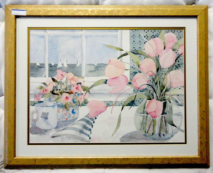 Colorful Summer in Nantucket Framed Art.  25 x 20.  <b>$45</b>