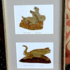 Galapagos-Themed Art Cut-Outs in Natural Wood Frame.  13 x 20.  <b>$35</b>