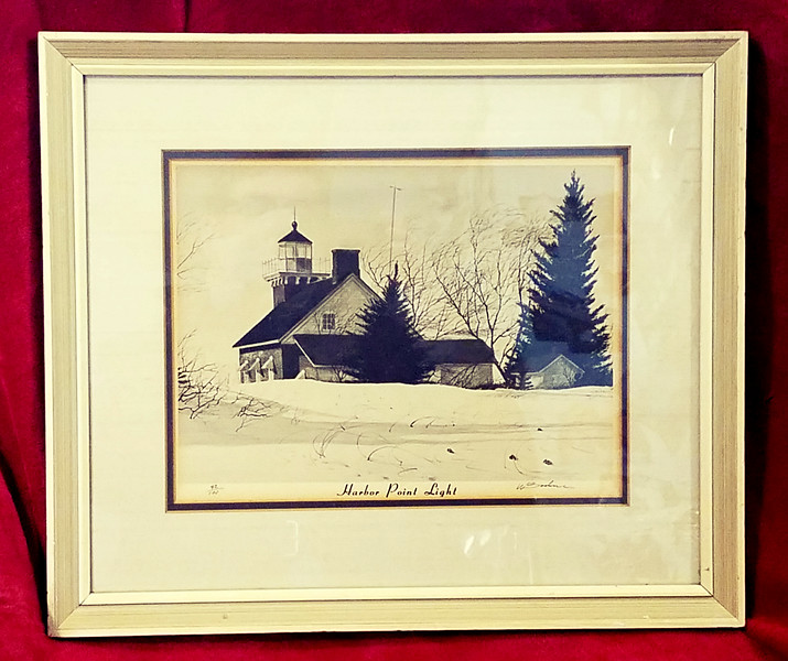 Harbor Point Lighthouse Lithograph