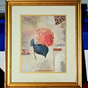 Attractive Framed Floral Print.  19 x 22 x 20.  <b>$20</b>