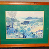 "<i>A Beautiful World</i> by Grandma Moses Elegantly Framed Print.   As the title suggests, <i>A Beautiful World</i> represents Grandma Moses' view of ideal harmony between humankind and nature.  ""I like pretty things the best,"" Moses once told an interviewer. ""What's the use of painting a picture if it isn't something nice? So I think real hard till I think of something real pretty, and then I paint it. I like to paint old-time things, historical landmarks of long ago, bridges, mills, and hostelries, those old-time homes, there are a few left, and they are going fast. I do them all from memory, most of them are daydreams, as it were.""  An insightful art reviewer once wrote,  ""All art is in some sense an affirmation of life—an offering of the human spirit, however downtrodden, as proof that our thoughts and feelings are ever precious and sometimes beautiful. This is the essence of Grandma Moses' genius.""  35 1/2 x 29 1/2.  <b>$50</b>"