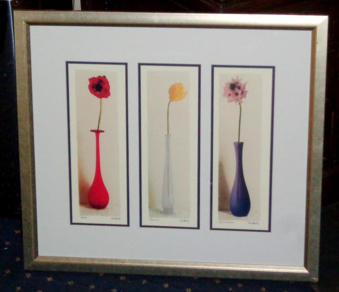 Attractive Vased Flowers Framed Print by Andy Maldolf.  28 x 25.  <b>$40</b>