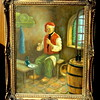 Santa Contemplating Rehab? Original Oil on Canvass in Ornate Frame.  15 x 19.  This is a very beautiful piece in excellent condition..  <b>$65</b>