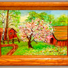 Barns in Pastoral Setting Original Oil in Small Frame.  15 1/2 x 12.  <b>$35</b>