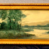 Vintage Stream ~ Oil in Frame.  28 1/2 x 10 3/4.  <b>$50</b>