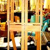 Top Condition Extra Large Solid Wood Easel.  25 x 31 x 90.  <b>$150</b>