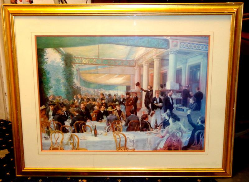The Good Life in Festive 1920's Upscale Restaurant Framed Art.  37 x 30.  <b>$50</b>