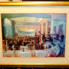 The Good Life in Festive 1920's Upscale Restaurant Framed Art.  37 x 30.  <b>$50</b>