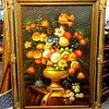 Amazing Vivid Floral Still Life in Oil with Ornate Frame.  33 x 45.  <b>$225</b>
