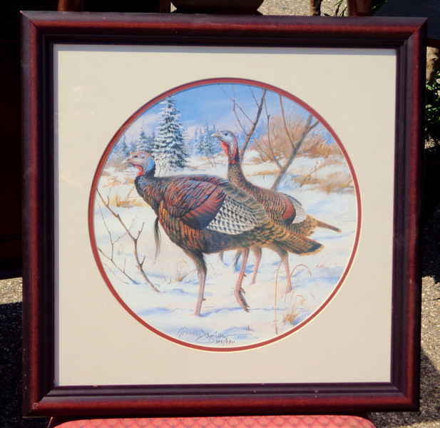 Rare Wild Turkey Limited Edition By Jay Millen Hand Signed. 20 x 20.  <b>$125</b>