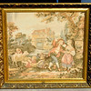 Elegant French Provincial Tapestry Art in Ornate Frame.  34 x 32.  <b>  $195</b>