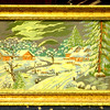 Needlepoint Winter Scene Framed Art.  25 x 19.  <b>$65</b>