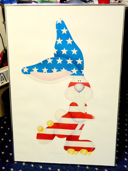 The Classic American Rabbit by Stewart Markowitz.  Excellent Condition.  24 x 36.  Pay $150 or more on eBay in frame.  <b>Our Price: $95