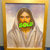 Jesus: King of the Universe Framed Gallery Print .  Inspiring.  This gallery print of Jesus Christ is done in full color and housed in a lovely goldtone frame. The artist, Stanley Gordon, is one of the 20th century's great portrait artists. After researching the Bible, Gordon has captured what he believes to be the real Jesus--a handsome, rugged, strong man with mesmerizing blue eyes, clipped chestnut brown hair, a slight olive complexion, and a medium length beard. The portrait will captivate you.  <b>$30</b>