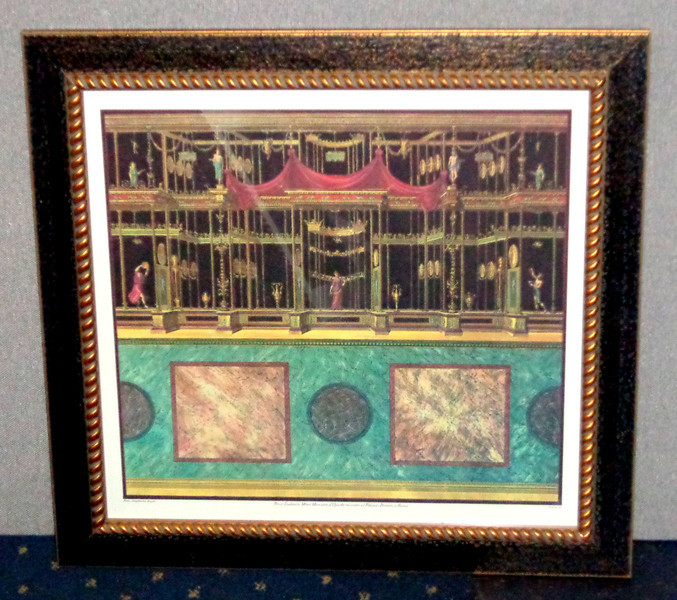 <i>Carloni, Inc. ~ Presso Ludovico Merri Mercante Roma </i> Fine Art Print in Elegant Frame.  Professionally framed and matted.    26 x 25 1/2.  <b>$65</b>
