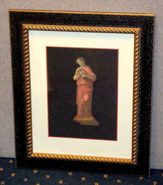<i>Roman Art - Harp</i> Fine Art Print in Elegant Frame.  Professionally framed and matted.   18 1/2 x 22 1/2.  <b>$60</b>