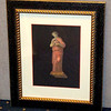 <i>Roman Art - Harp</i> Fine Art Print in Elegant Frame.  Professionally framed and matted.   18 1/2 x 22 1/2.  <b>$60</b>