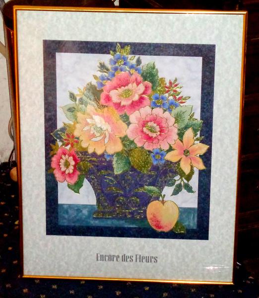Encore des Fleurs Framed Art Poster.  22 x 29.  <b>$20</b>