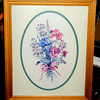 Floral Art in Frame.  18 1/2 x 23.  <b>$20</b>