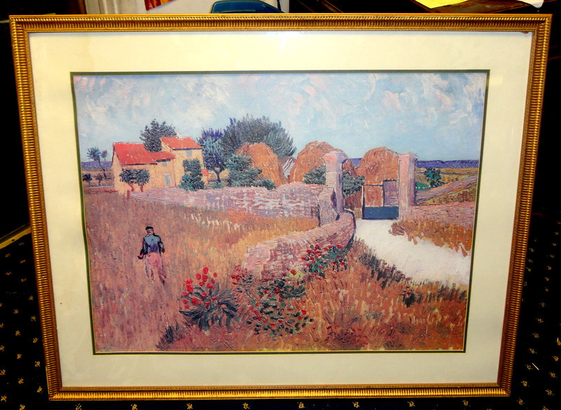 'Farmhouse in Proven' by Van Gogh ~ Watercolor. 40 x 33.  <b>$40</b>