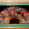 Elegant William Gatewood Olan Fan in Premium Matted Frame.  41 1/2 x 28 1/2.  <b>$125</b>