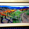 Colorful Napa Valley Print with Beautiful Frame.  44 x 32. <b>$40</b>