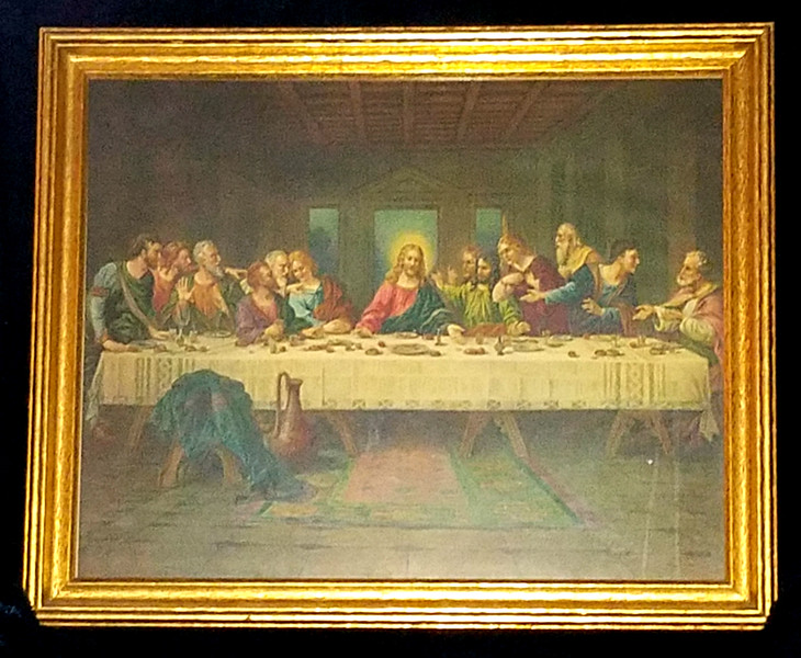 <i>The Last Supper</i> Vintage Catholic Store Art Print.  23 x 19.  <b>$50</b>