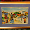 Mexican City Street Watercolor By Vazquez.  30 x 24.  <b>$65</b>