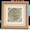 Rosette IIB ~ Painter 95 in Premium Ornate Frame.  36 x 37.  <b>$95</b>