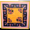 Vintage Embroidered Silk Handkerchief in Ornate Frame.  23 x 23.  <b>$95</b>