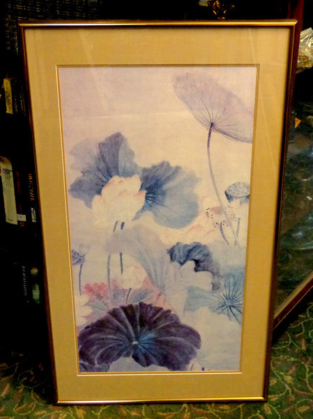 Exquisite Floral Wall Art Framed by Hudson's.  25 x 44.  <b>$125</b>