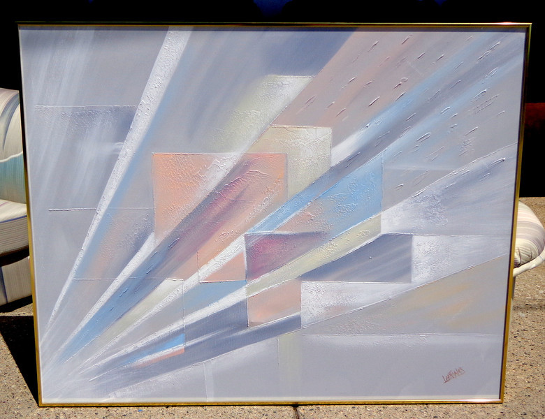 Large Abstract Modern Abstract Original Oil Signed Lee Reynolds.  60 x 48.  <b>$495</b>