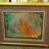 Captivating Abstract Framed Art.  43 x 36.  <b>$95</b>