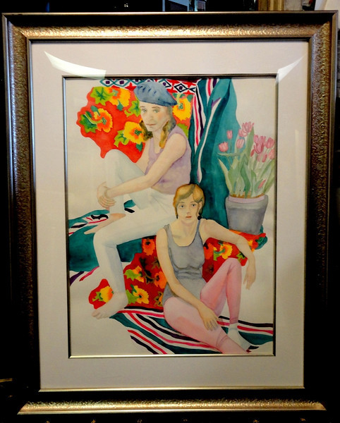 Original Watercolor in Elegant Frame by Marcia Tournay   33 x 41. Don't forget to check out the Art Section of our website for hundreds of pics of framed art pieces that can add that special touch to your home or office that you've been looking for.   <b>$125</b>
