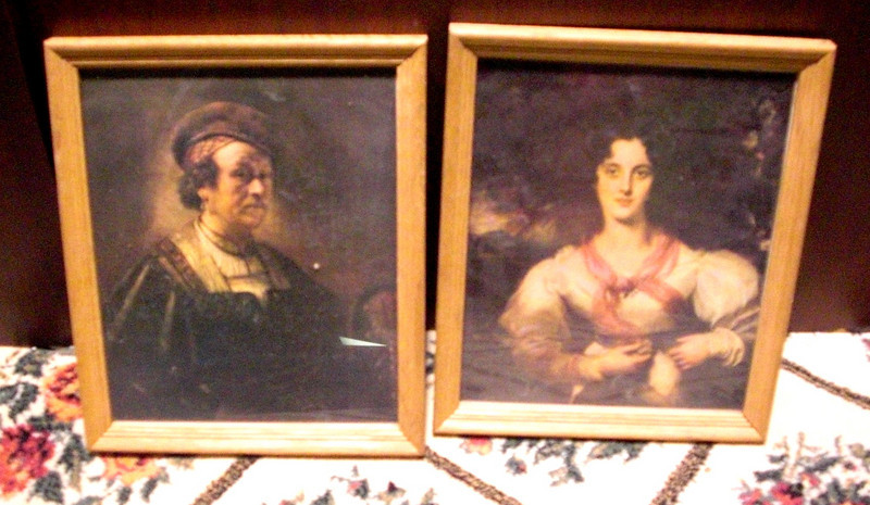 Set of 2 Lady and Lord Framed Art Paintings.