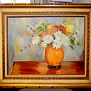 Original Floral Still Life Oil on Canvass.  32 x 26.  <b>$75</b>