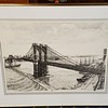 Brooklyn Bridge Pencil Art in Frame