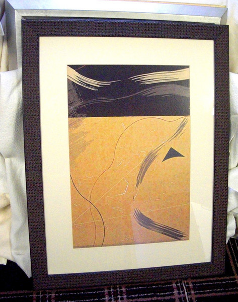 Contemporary Wall Hanging in Textured Frame.  26 x 33.  <b>$30</b>