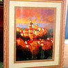 Les Villages Large Framed Art.  47 x 58.  <b></b>