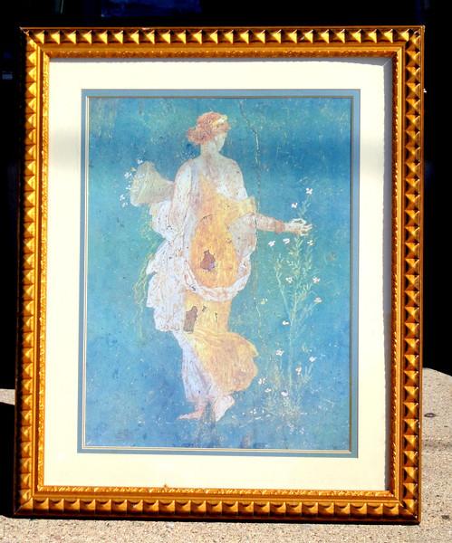 Maiden in Garden Stroll in Premium Frame.  33 x 41.  <b>$75</b>