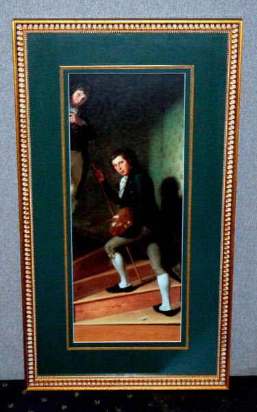 Provincial Boys Going Up Stairs.  18 1/2 x 34.  <b>$50</b>