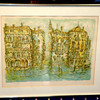Unique Water City Signed Lithograph By Laura Dow 103/260.  27 x 22.  <b>$50</b>
