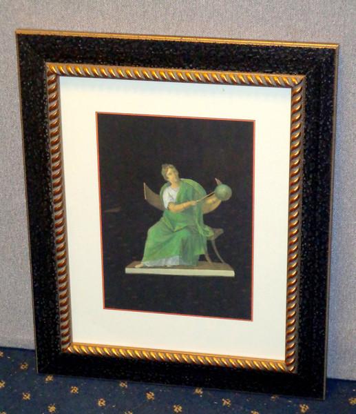 <i>Roman Art - Instructor</i> Fine Art Print in Elegant Frame.  Professionally framed and matted.   18 1/2 x 22 1/2.  <b>$60</b>