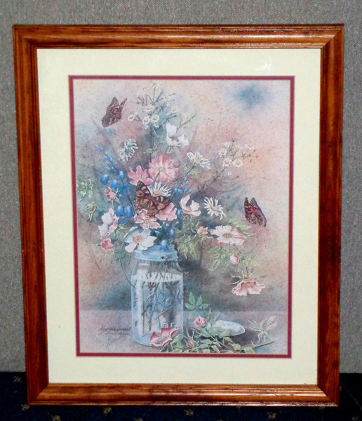 <i>Mountain Bouquet</i> Hand Signed by Delores Roberson.  18 x 22.  <b>$50</b>