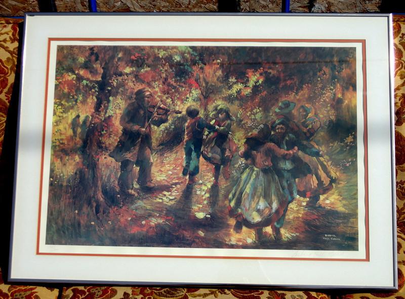 'Gypsy Dance' Hand Signed by Artist Barbara Hess Mercier.  34 x 25.  <b>$65</b>