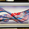 "<i>Thoughts in Passage II</i> - Extremely Rare Hand-Signed Framed Lithograph by Michael John March.  This colorful lithograph is printed on heavy linen-style (rag) stock, signed in pencil by the artist and titled under the print image. It is in excellent, carefully stored condition. <br><br>From the artist's biography....""Michael's use of brayers to set backgrounds and ink images reached its full expression in his swirling abstract paintings. These works border on action painting and are each uniquely evocative.""   This is truly a mantle grade quality piece.  42 x 32.  <b></b>"