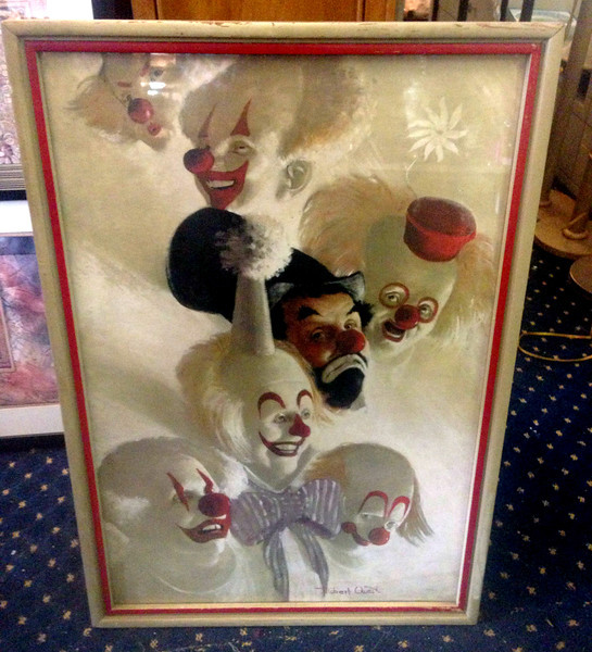 <b>Available at our Livernois Store Location - (313) 345-0884. </b>  <i>Clowns Abound</i>  by Robert Owen ~ 1969.  <b>$125</b>