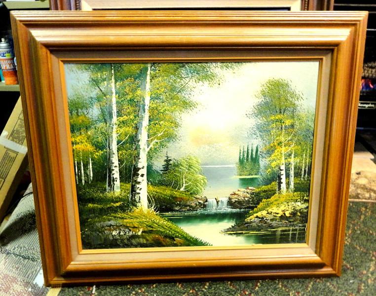 Original Nature Scene in Oil.  27 x 24.  <b>$40</b>