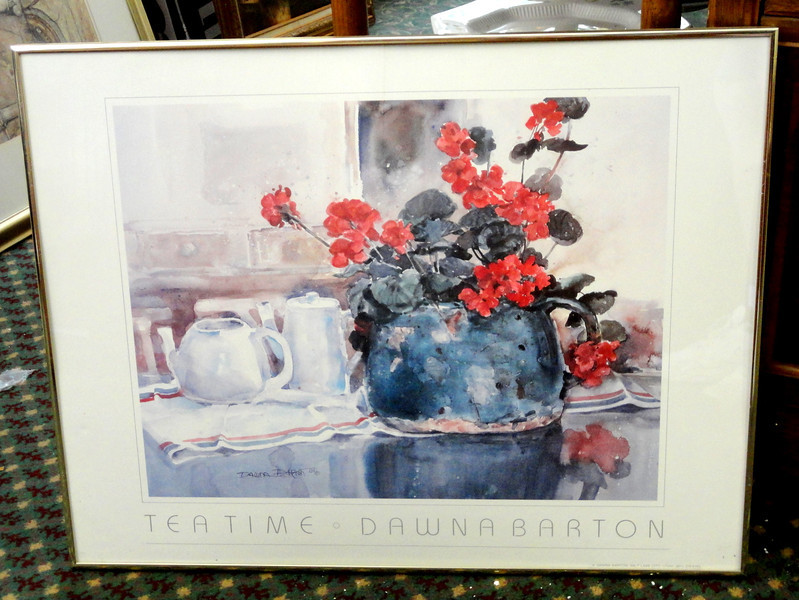 Tea Time by Dawna Barton Framed Print.  26 x 21. <b>$25</b>