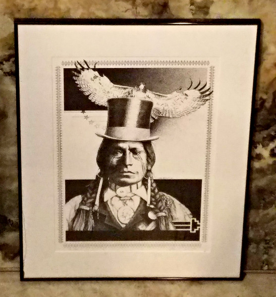 American Indian Framed Lithograph